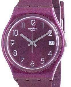 Swatch Redbaya Red Dial Silicone Strap Quartz GR405 Womens Watch