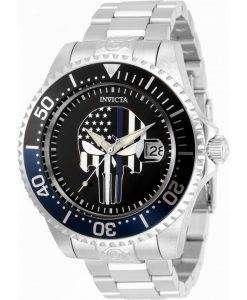 Invicta Pro Diver Skull Black Dial Automatic 31928 300M Mens Watch
