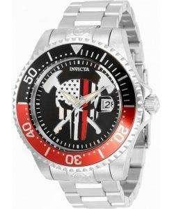 Invicta Pro Diver Skull Black Dial Automatic 31929 300M Mens Watch