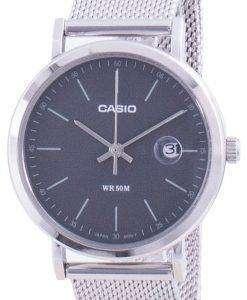 Casio Analog Black Dial Stainless Steel LTP-E175M-1E LTPE175M-1 Womens Watch