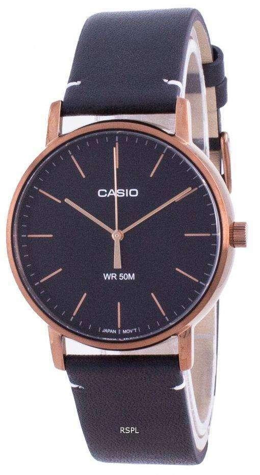 Casio Black Dial Quartz MTP-E171RL-1E MTPE171RL-1 Mens Watch