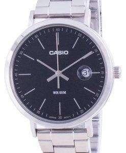 Casio Analog Black Dial Stainless Steel MTP-E175D-1E MTPE175D-1 Mens Watch