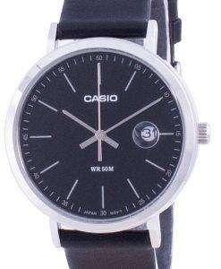 Casio Analog Black Dial Leather Strap MTP-E175L-1E MTPE175L-1 Mens Watch