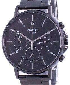 Casio Multi Hands Black Dial Stainless Steel Quartz MTP-E321B-1A MTPE321B-1 Mens Watch