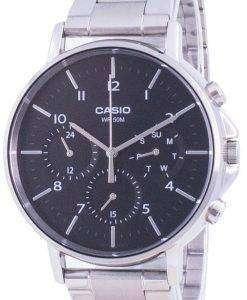 Casio Multi Hands Black Dial Stainless Steel Quartz MTP-E321D-1A MTPE321D-1 Mens Watch