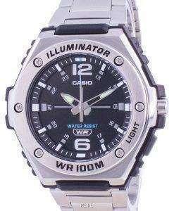 Casio Youth Black Dial Stainless Steel Quartz MWA-100HD-1A MWA100HD-1 100M Mens Watch