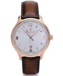 Maserati Attrazione White Dial Quartz R8851126002 100M Mens Watch