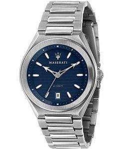 Maserati Triconic Blue Dial Quartz R8853139002 100M Mens Watch