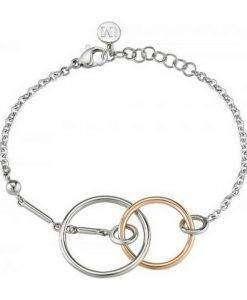 Morellato Cerchi Stainless Steel PVD Rose Gold Tone SAKM16 Womens Bracelet