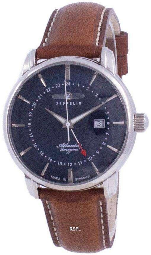 Zeppelin Atlantic Blue Dial Quartz 8442-3 84423 Mens Watch