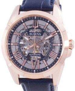 Bulova Sutton Automatic Skeleton Dial 97A161 100M Mens Watch