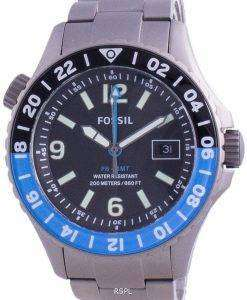 Fossil FB-GMT Curator Titanium Limited Edition Quartz LE1100 200M Mens Watch