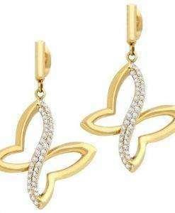 Morellato Battito Gold Tone Rhodium Plated SAHO08 Womens Earring