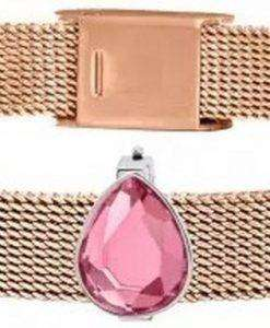 Morellato Sensazioni Rose Gold Tone Stainless Steel Mesh SAJT69 Womens Bracelet
