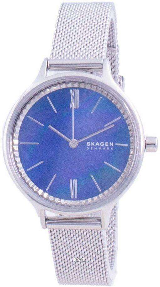 Skagen Anita Blue Mother Of Pearl Dial Quartz SKW2862 Womens Watch
