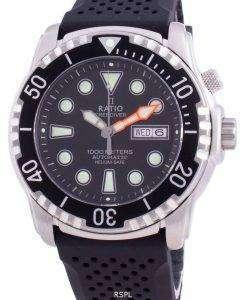 Ratio FreeDiver Helium-Safe 1000M Sapphire Automatic 1068HA90-34VA-BLK Men's Watch