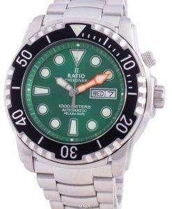Ratio FreeDiver Helium-Safe 1000M Sapphire Automatic 1068HA96-34VA-GRN Men's Watch