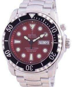 Ratio FreeDiver Helium-Safe 1000M Sapphire Automatic 1068HA96-34VA-RED Men's Watch