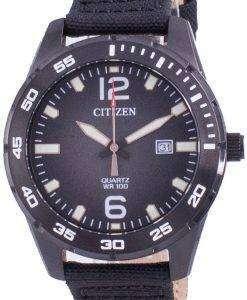 Citizen Black Dial Nylon Strap Quartz BI1045-05E 100M Mens Watch