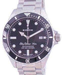 Edox Skydiver 70s Date Automatic Diver's 801153N1MNN 80115 3N1M NN 300M Men's Watch