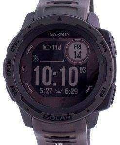 Garmin Instinct Solar Graphite Outdoor Fitness GPS Black Band 010-02293-00 Multisport Watch