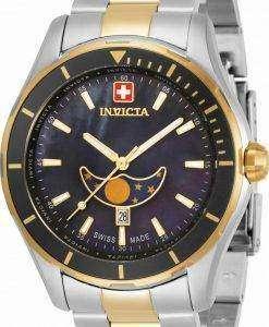 Invicta Pro Diver Moon Phase Black Dial Quartz 33466 100M Men's Watch