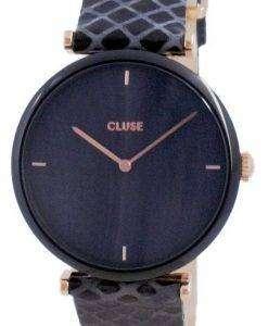 Cluse Triomphe Black Dial Leather Quartz CW0101208012 Womens Watch