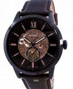 Fossil Townsman Brown Dial Automatic Skeleton ME3155 Men's Watch