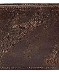 Fossil Derrick RFID Passcase Dark Brown Bifold ML3771201 Men's Wallet