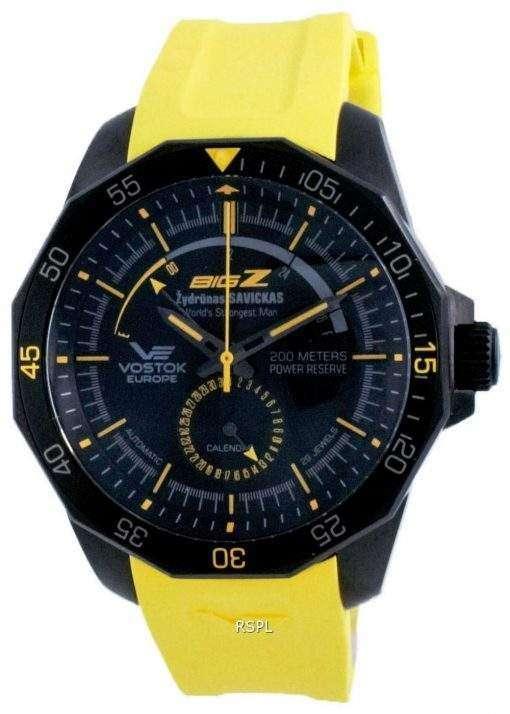 Vostok Europe Big Z Black Automatic Diver's NE57-225C417-LS 200M Men's Watch