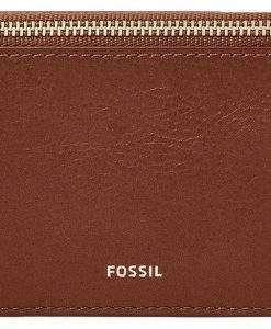 Fossil Logan Brown Zip Closure SL7925200 Women's Card Case