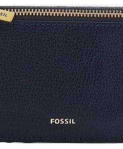 Fossil Logan Blue Zip Closure SL7925406 Women's Card Case