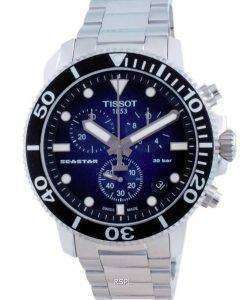 Tissot T-Sport Seastar 1000 Chronograph Quartz Divers T120.417.11.041.01 T1204171104101 300M Mens Watch