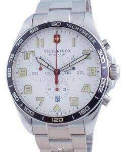 Victorinox Fieldforce Chronograph White Dial Quartz 241856 100M Mens Watch
