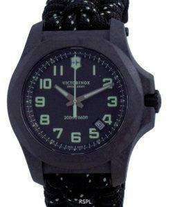 Victorinox I.N.O.X. Carbon Black Textile Divers Quartz 241859 200M Mens Watch