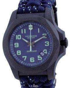Victorinox I.N.O.X. Carbon Blue Textile Divers Blue Dial Quartz 241860 200M Mens Watch