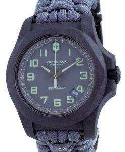 Victorinox I.N.O.X. Carbon Grey Textile Divers Quartz 241861 200M Mens Watch
