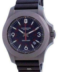 Victorinox I.N.O.X. Black Dial Rubber Quartz 241883 200M Mens Watch