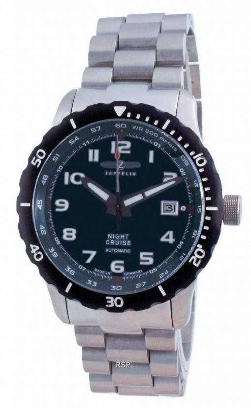 Zeppelin Night Cruise Green Dial Automatic 7264M-3 7264M3 200M Men's Watch