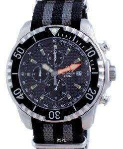 Ratio Free Diver Chronograph Nylon Quartz Diver's 48HA90-17-CHR-BLK-var-NATO1 200M Men's Watch