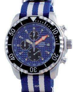 Ratio Free Diver Chronograph Nylon Quartz Diver's 48HA90-17-CHR-BLU-var-NATO2 200M Men's Watch