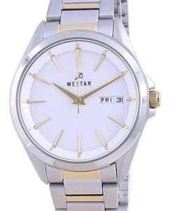 Westar White Dial Two Tone Stainless Steel Quartz 40212 CBN 101 Women's Watch