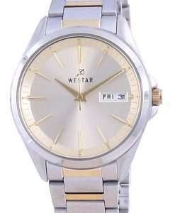 Westar Champagne Dial Two Tone Stainless Steel Quartz 40212 CBN 102 Women's Watch