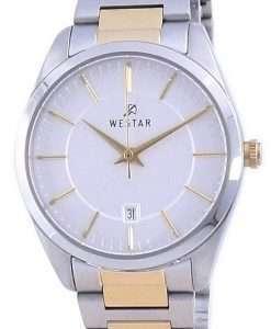 Westar Silver Dial Two Tone Stainless Steel Quartz 40213 CBN 107 Women's Watch