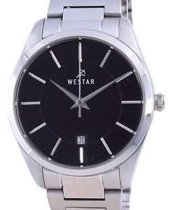 Westar Black Dial Stainless Steel Quartz 40213 STN 103 Women's Watch