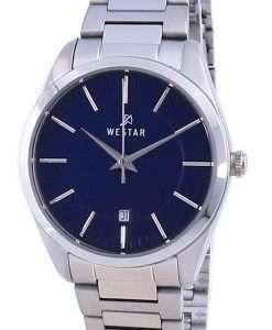 Westar Blue Dial Stainless Steel Quartz 40213 STN 104 Women's Watch