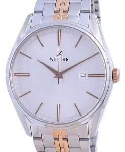 Westar Silver Dial Two Tone Stainless Steel Quartz 50210 SPN 607 Men's Watch