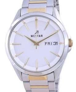 Westar White Dial Two Tone Stainless Steel Quartz 50212 CBN 101 Men's Watch