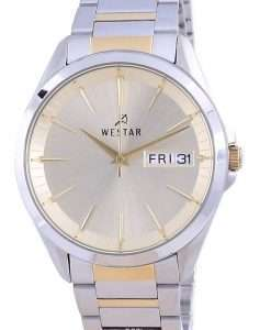 Westar Champagne Dial Two Tone Stainless Steel Quartz 50212 CBN 102 Men's Watch