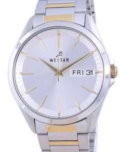 Westar Silver Dial Two Tone Stainless Steel Quartz 50212 CBN 107 Men's Watch